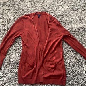 Rust red Gap cardigan